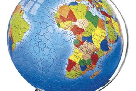 Map puzzle ball metallic world 540 piece puzzleball gumiabroncs Choice Image