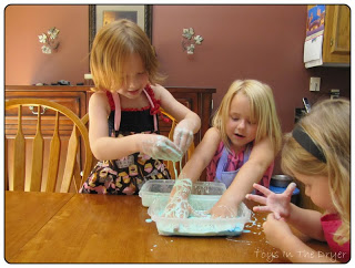 Corn Starch and Water--fun for all ages!