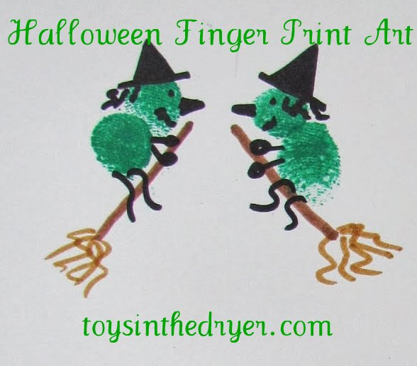 Halloween Fingerprint Art