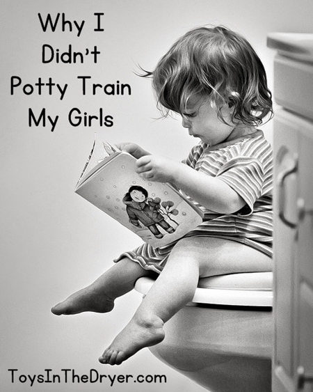 Why I Didn't Potty Train My Girls