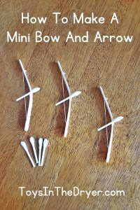 Popsicle Stick Bow and Arrows