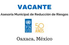 Convocatoria para Asesor/a Municipal de Reducción de Riesgos para Oaxaca