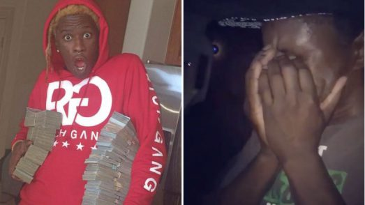 Young Thug's dad tears up as his son surprises him with a new car