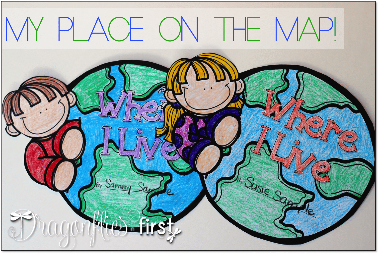 My Place on the Map 1st Grade Activity     My Place on the Map My Place on the Map