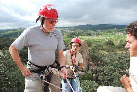 On a recent El Diente tour, travel and outdoor writer Bob Sehlinger makes the first descent.