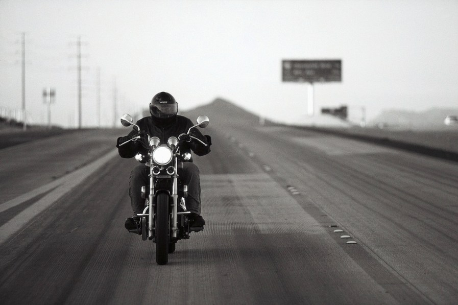 Motorcyclist Hitting the Open Road