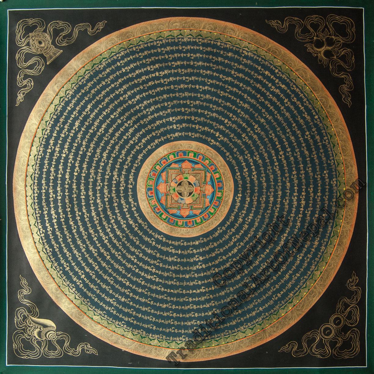 Gold painted Mandala
