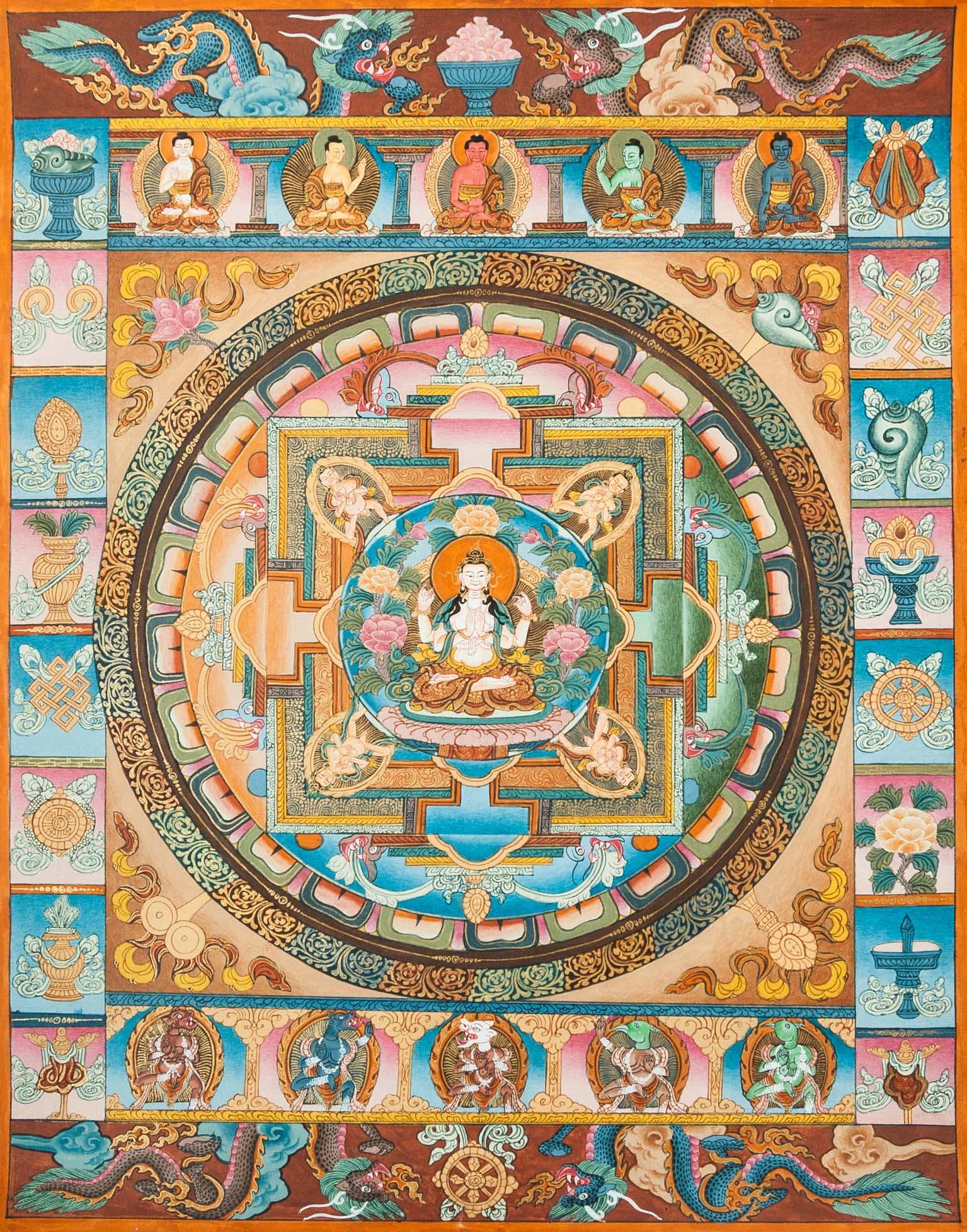 Thangka of Avalokiteshvara