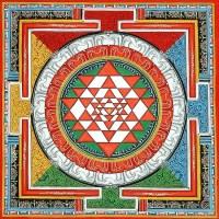 Shri Yantra Thangka Painting