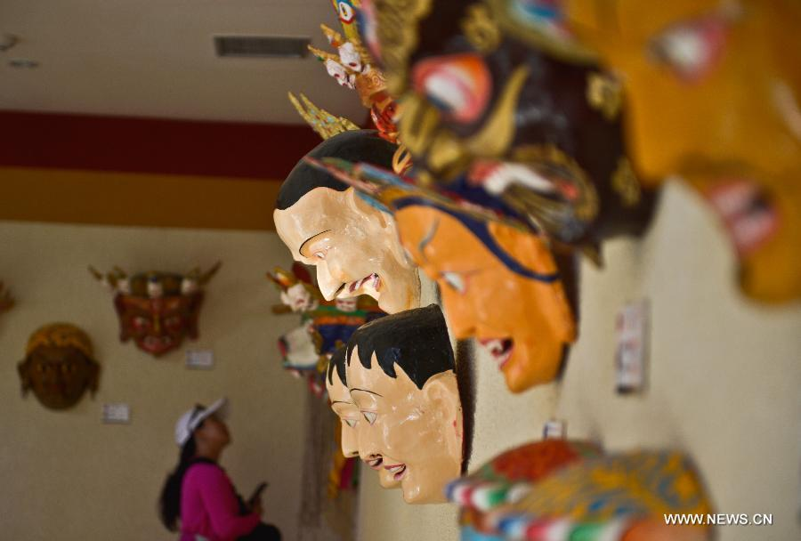 Tibetan Masks exhibition in Lhasa 2013