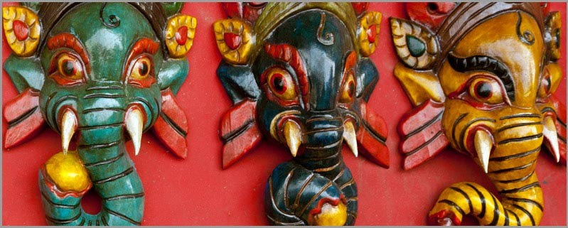 wooden Mask from Nepal