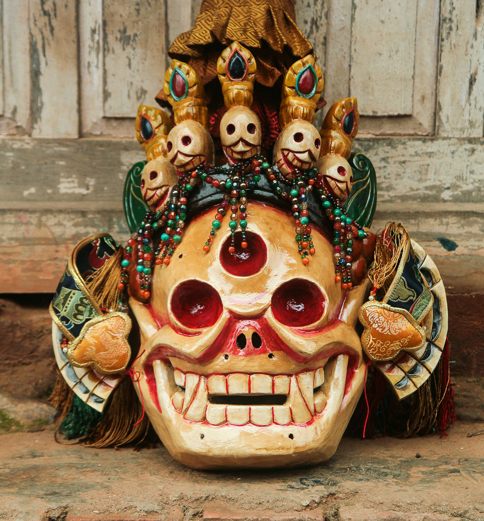 Handmade skull mask of Citipati