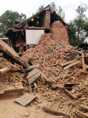 destruction in Nepal