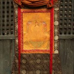 Thangka with Traditional Brocade