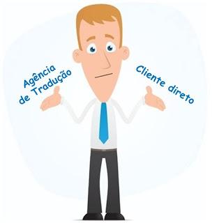 Agência de tradução X Cliente direto