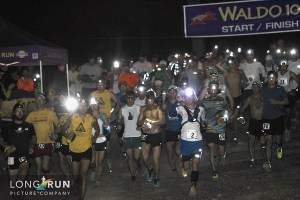 Picture of Yassine Diboun at the start line of the Waldo 100k ultra marathon