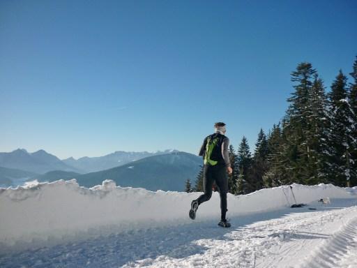 runner in the snow