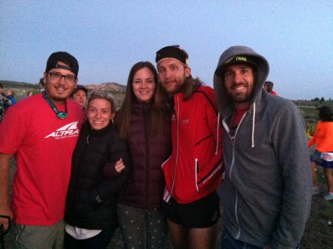 Best crew ever… I couldn't do it without them. (Friends Eric and Ashlyn, amazing wife Caitlin, Me and pacer Bob)