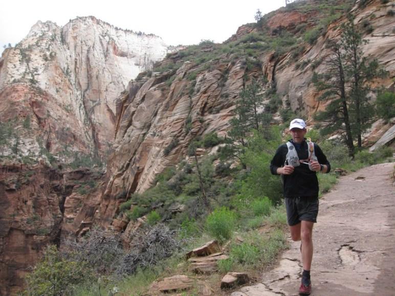 Matt Williams running through Zion National Park