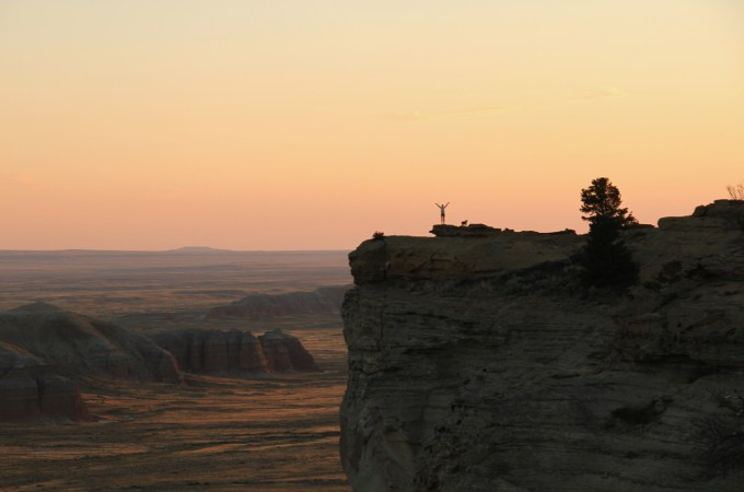 Sunset over Oregon Buttes, Wyoming