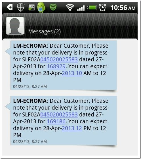 Croma-confirmation-SMS