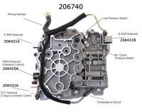 Гидроблок АКПП 4T65E (4T60E) соленоиды