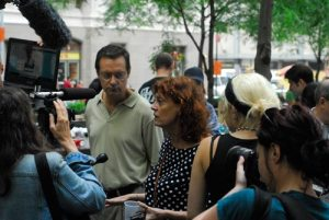 Susan Sarandon supporting the protesters in Lower Manhattan. Photo: #occupywallstreet.
