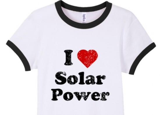 I Love Solar Power T shirt