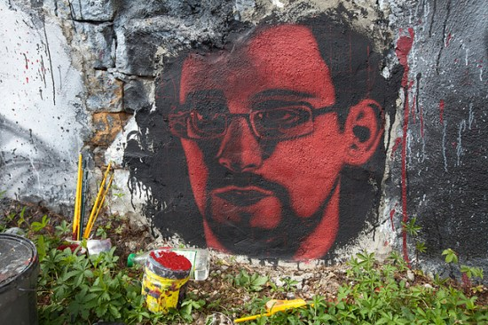 painting of Edward Snowden