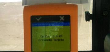 Maquina boleto electronico (Foto: Esteban Armoya)