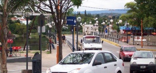 Ingreso al centro de Carlos Paz
