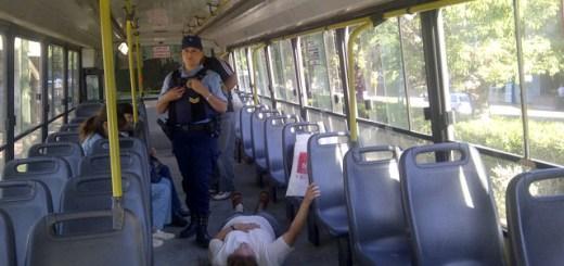 Accidentado en el colectivo de Tamse (Foto: Cadena3)