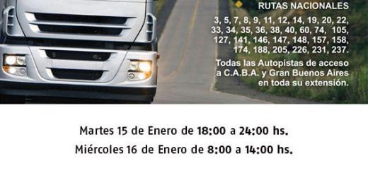 Restricción a camiones