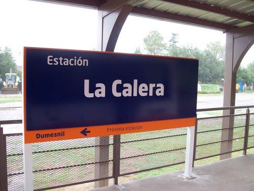 Cartel estacion La Calera del Tren de las Sierras - panoramio