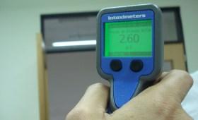 Resultado 260 en control de alcoholemia con aparato digital activo
