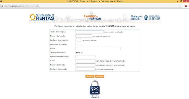 Pagar con tarjeta de credito multa de transito de Policia Caminera de Cordoba - 8_2