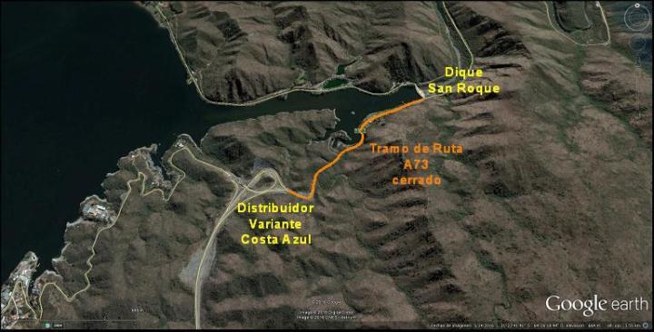 Corte de ruta A-73 - Caminos de las Sierras
