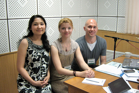 Interpreting services for Deutsche Welle in Astana