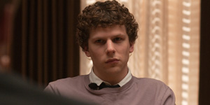 Jesse Eisenberg stars as Facebook co-creator Mark Zuckerberg in The Social Network