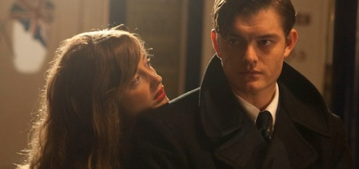 Sam Riley and Andrea Riseborough in Brighton Rock
