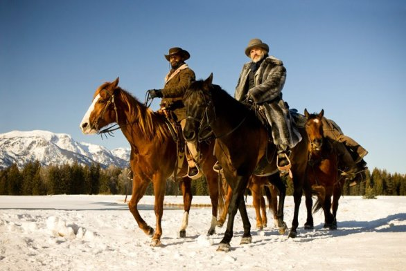 Jamie Foxx and Christoph Waltz in DJANGO UNCHAINED