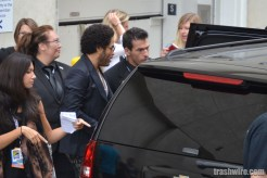 Lenny Kravitz on his way to the Hunger Games panel at Comic Con 2013