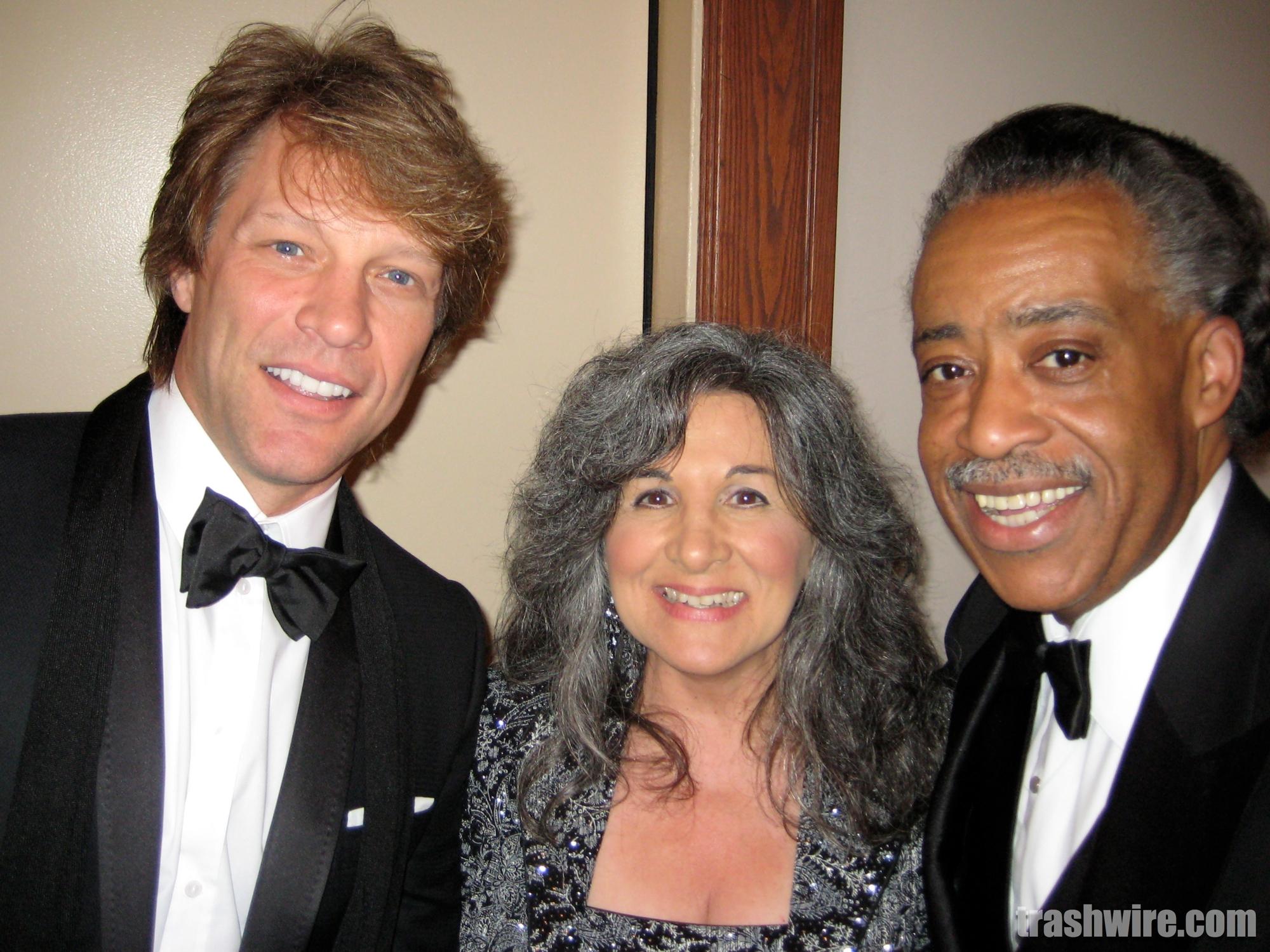 Pat Sue and Jon Bon Jovi and Al Sharpton