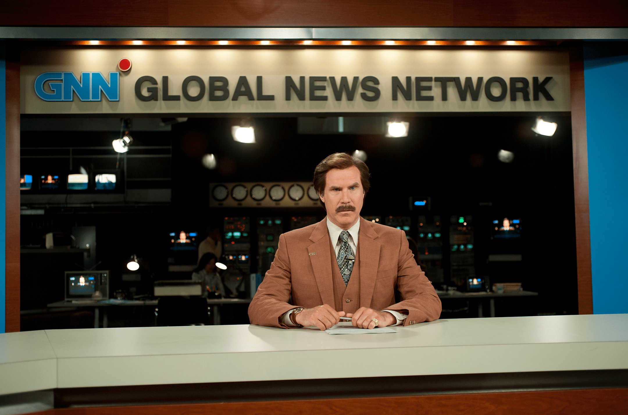 Ron Burgundy (Will Ferrell) is back in Anchorman 2