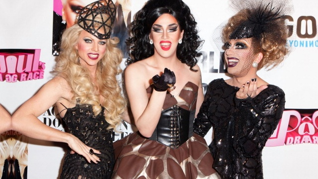 Courtney Act, Adore Delano and Bianca Del Rio of RuPaul's Drag Race
