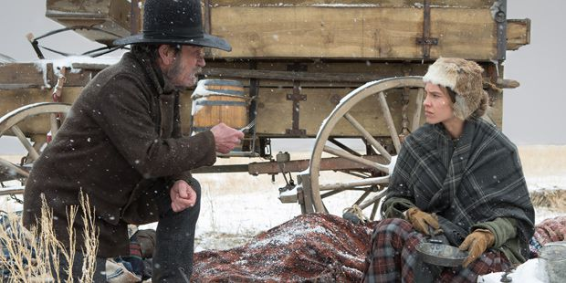 Tommy Lee Jones and Hillary Swank in The Homesman