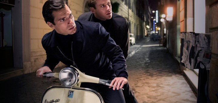 """HENRY CAVILL as Solo and ARMIE HAMMER as Illya in Warner Bros. Pictures' action adventure """"THE MAN FROM U.N.C.L.E."""