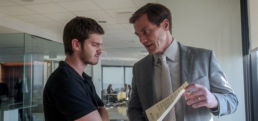 99HOMES_FP_03972 (l to r) Andrew Garfield stars as 'Dennis Nash' and Michael Shannon as 'Rick Carver' in Broad Green Pictures release, 99 HOMES. Credit: Broad Green Pictures