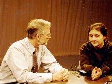 С Крисом Митчеллом, директором архива К.С. Льюиса. Уитон-колледж, Иллинойс, США, 1996