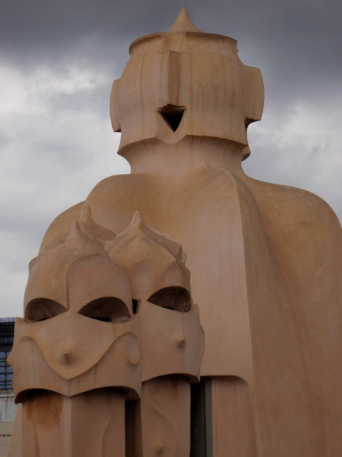 The rooftop of La Pedrera